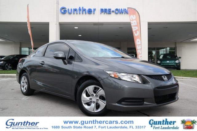Pre Owned 2013 Honda Civic Lx Coupe In Fort Lauderdale U13953a
