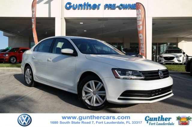 certified pre-owned 2017 volkswagen jetta 1.4t s sedan in fort