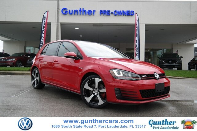 Certified Pre-Owned 2015 Volkswagen Golf GTI 2.0T Autobahn 4-Door